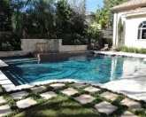 Geometric pool with pool landscaping.JPG