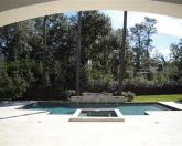 Geometric pool with wall and spa.JPG