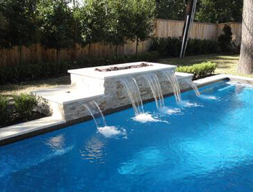 Sheer Descents Are Water Features That Gently Poor Into The Pool From Or Spa Walls And Come In Configurations As Various A Sheet Of Gl Effect