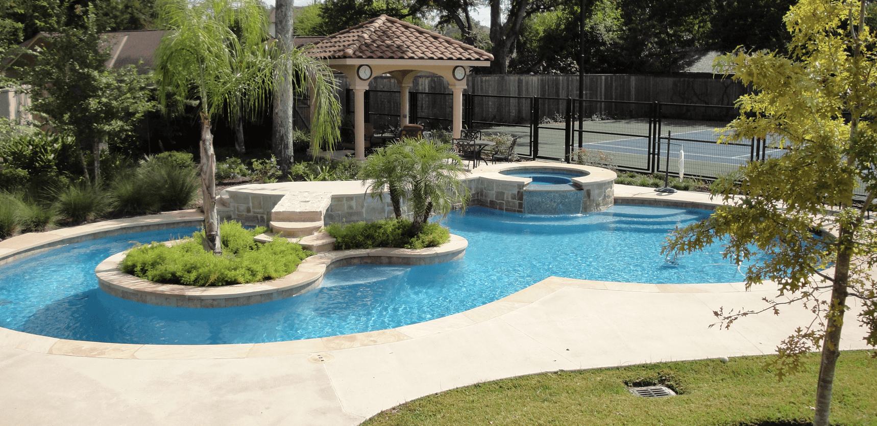 Pool construction houston pool design katy pool service for Pool design inc